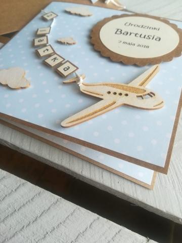 ręcznie robiona kartka na drugie urodziny