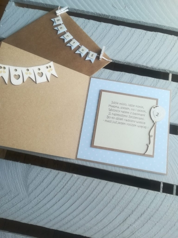 kartka na urodziny dwulatka