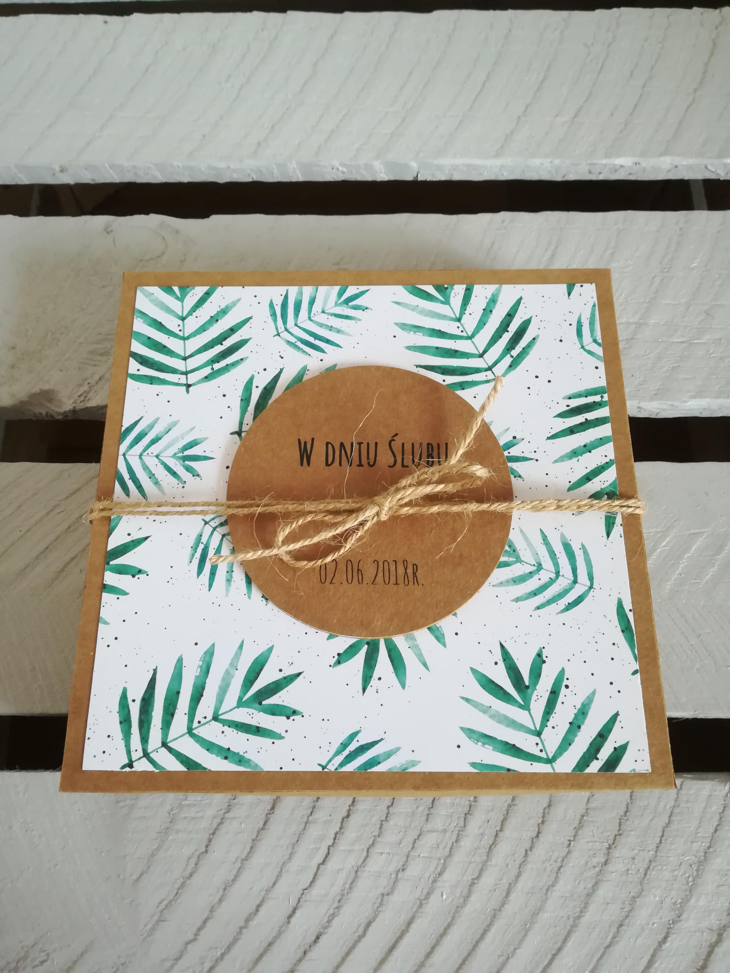 kartka na ślub z pudełkiem rzeszów krosno podkarpacie okolice