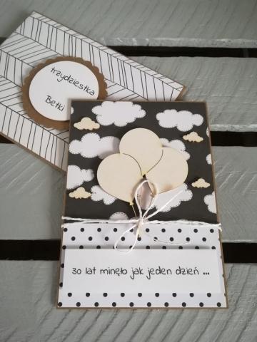 oryginalna ręcznie robiona kartka na 30 urodziny