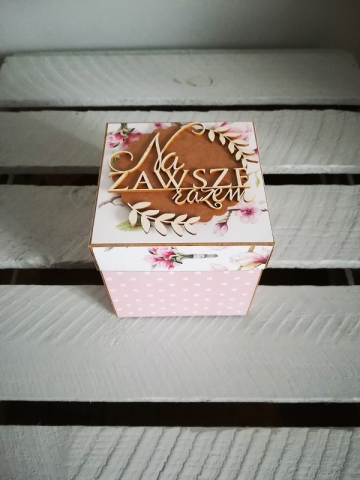 pudełko na ślub ręcznie robione typu exploding box