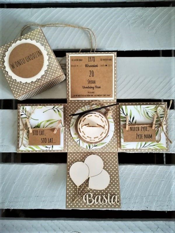 Personalizowany exloding box na 40 urodziny