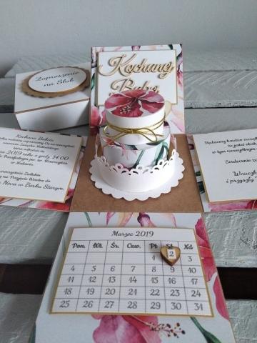 oryginalne zaproszenie ślubne dla rodziców i babci