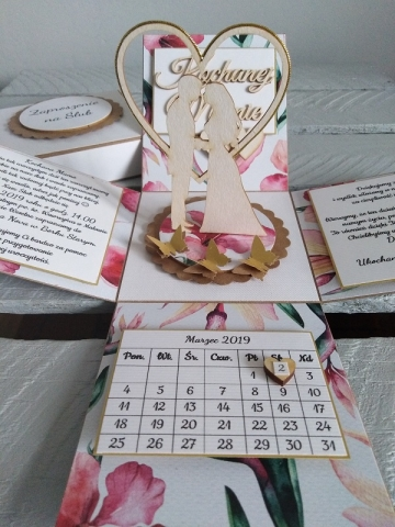 wyjątkowe zaproszenie ślubne ręcznie robione