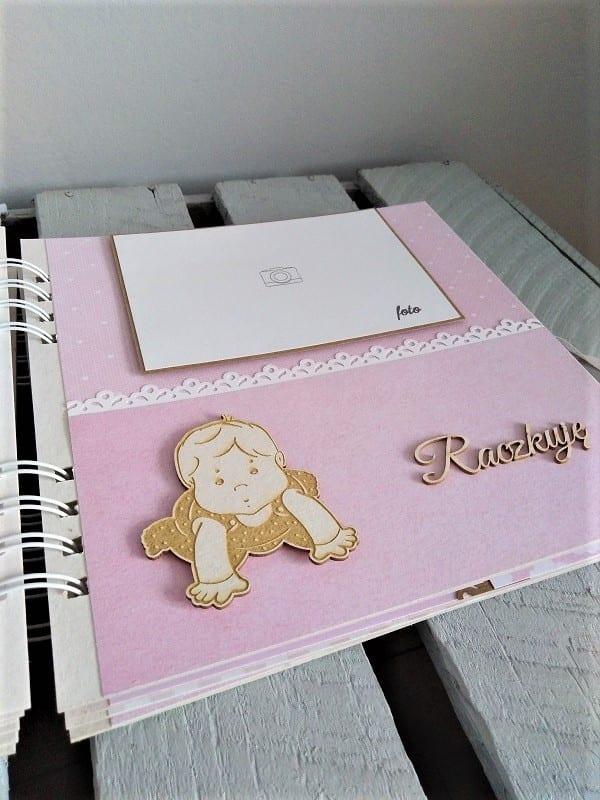 album dla dziecka wyjątkowy ręcznie robiony prezent na chrzest