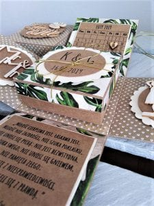 kartka na ślub ręcznie robiona oryginalny pomysł na prezent ślubny