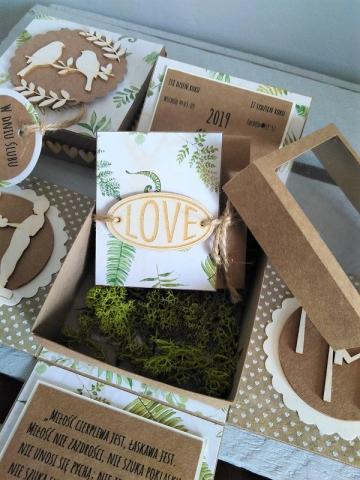 kartka na ślub z papieru eko