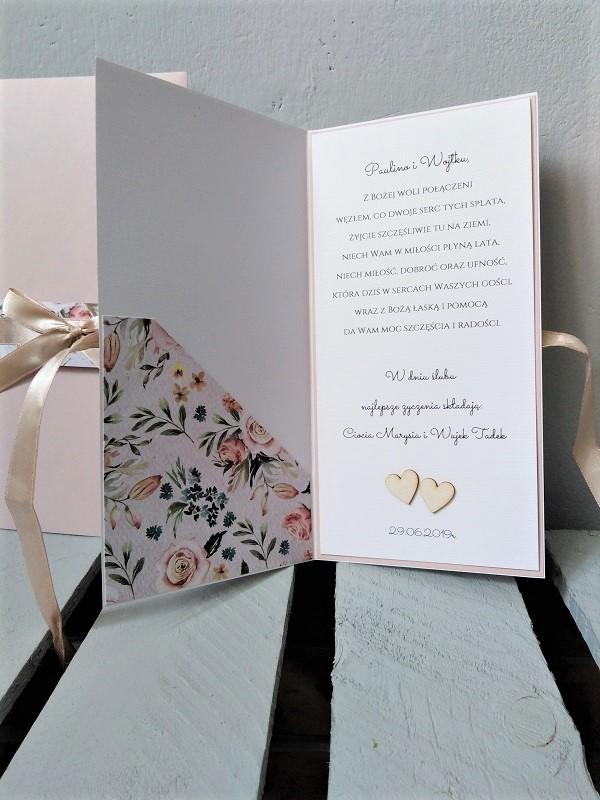 oryginalna kartka na ślub