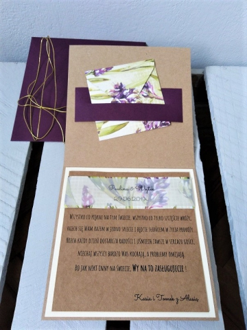 kartka na ślub z kopertą ręcznie robiona