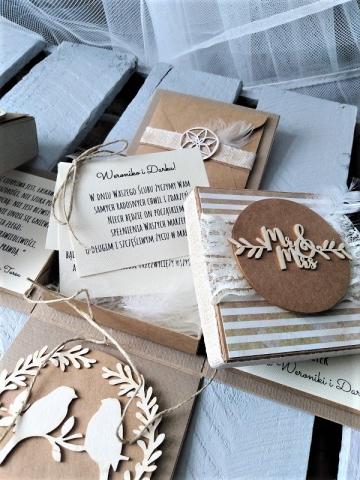 ręcznie robiona kartka na ślub wyjątkowa i oryginalna