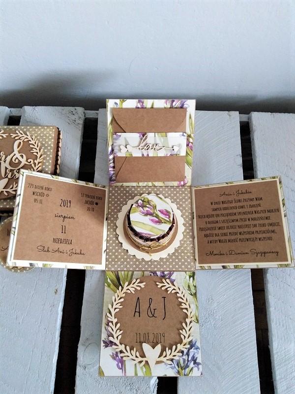 kartka na ślub z papieru eko ręcznie robiona spersonalizowana